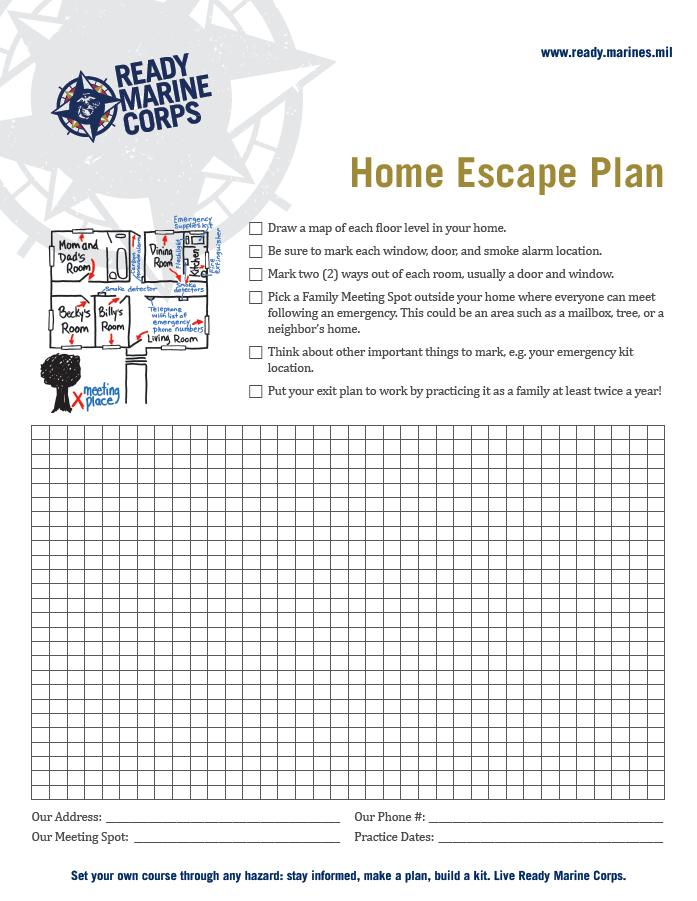 making a family emergency plan