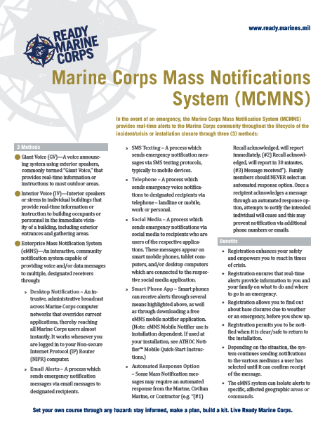 MCMNS Fact Sheets