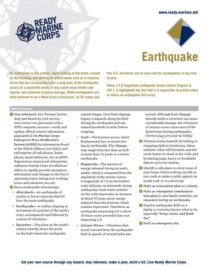 EarthquakeFactsheet