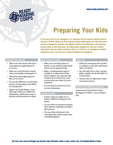 Preparing Your Kids Factsheet