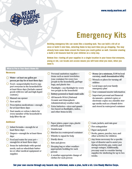 Emergency Kit Factsheet