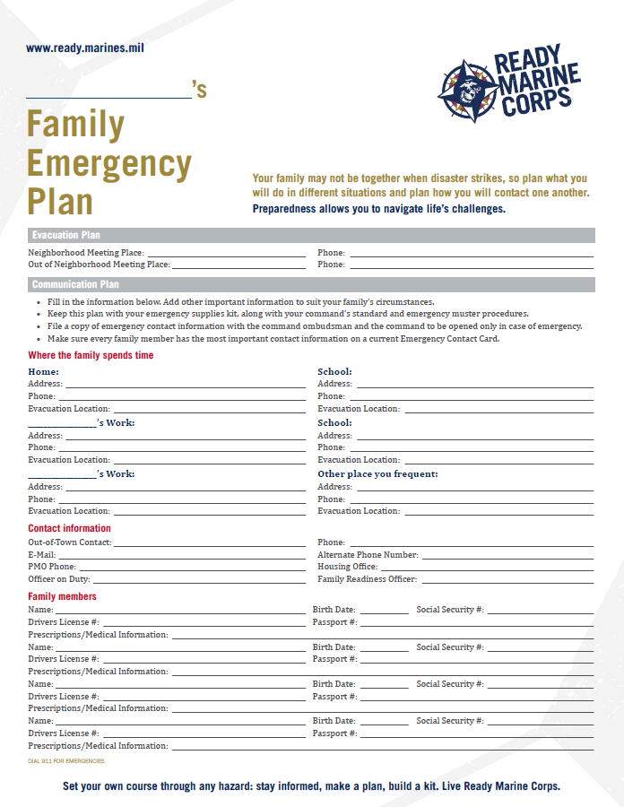 Making A Family Emergency Plan