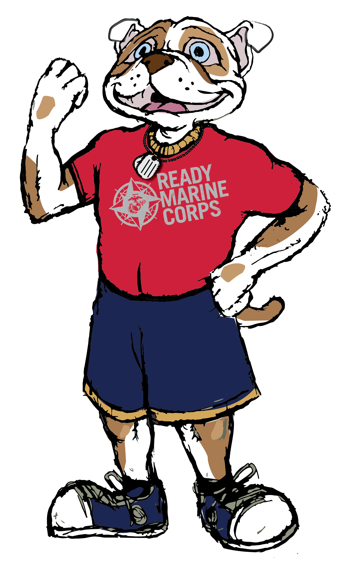 Chesty - The Ready Marine Corps Kids Mascot