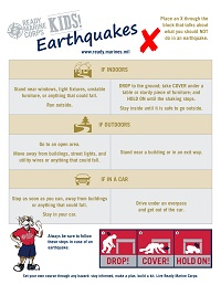 Earthquake Kids Activity Sheet