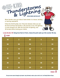 Thunderstorm Kids Activity Sheet
