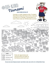 Tsunami Kids Activity Sheet