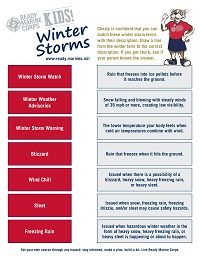 Winter Storm Activity Sheet