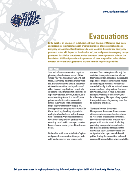 Evacuation Fact Sheet