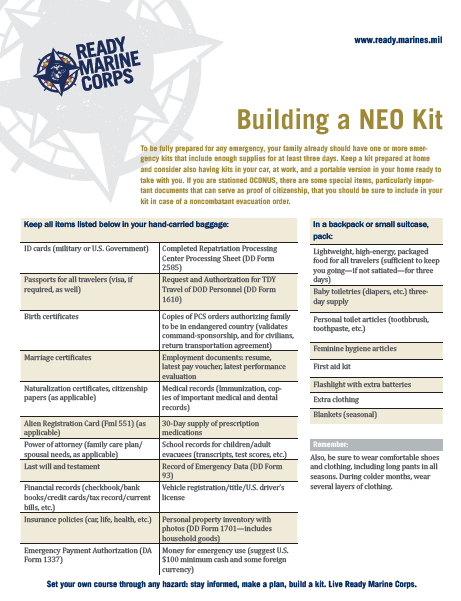 Building a NEO Kit Factsheet