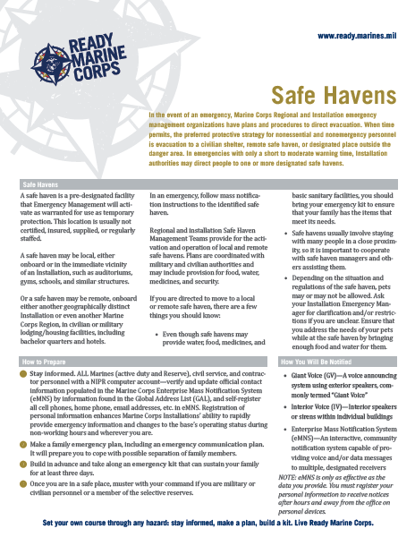 Safe Haven fact sheet